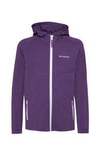 Macpac Merino 280 Hooded Jacket — Kids', Wineberry, hi-res