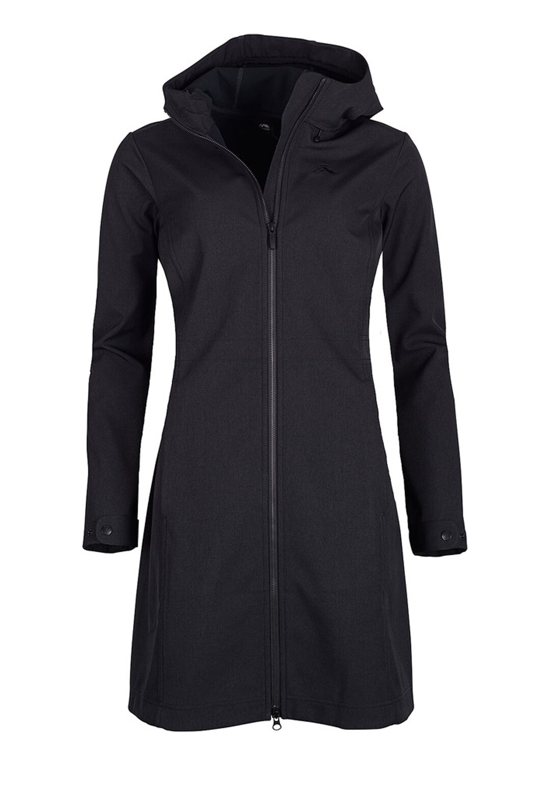 Macpac Chord Softshell Hooded Coat — Women's, Black, hi-res