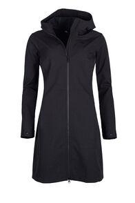 Macpac Chord Softshell Hooded Coat — Women's, Black, hi-res