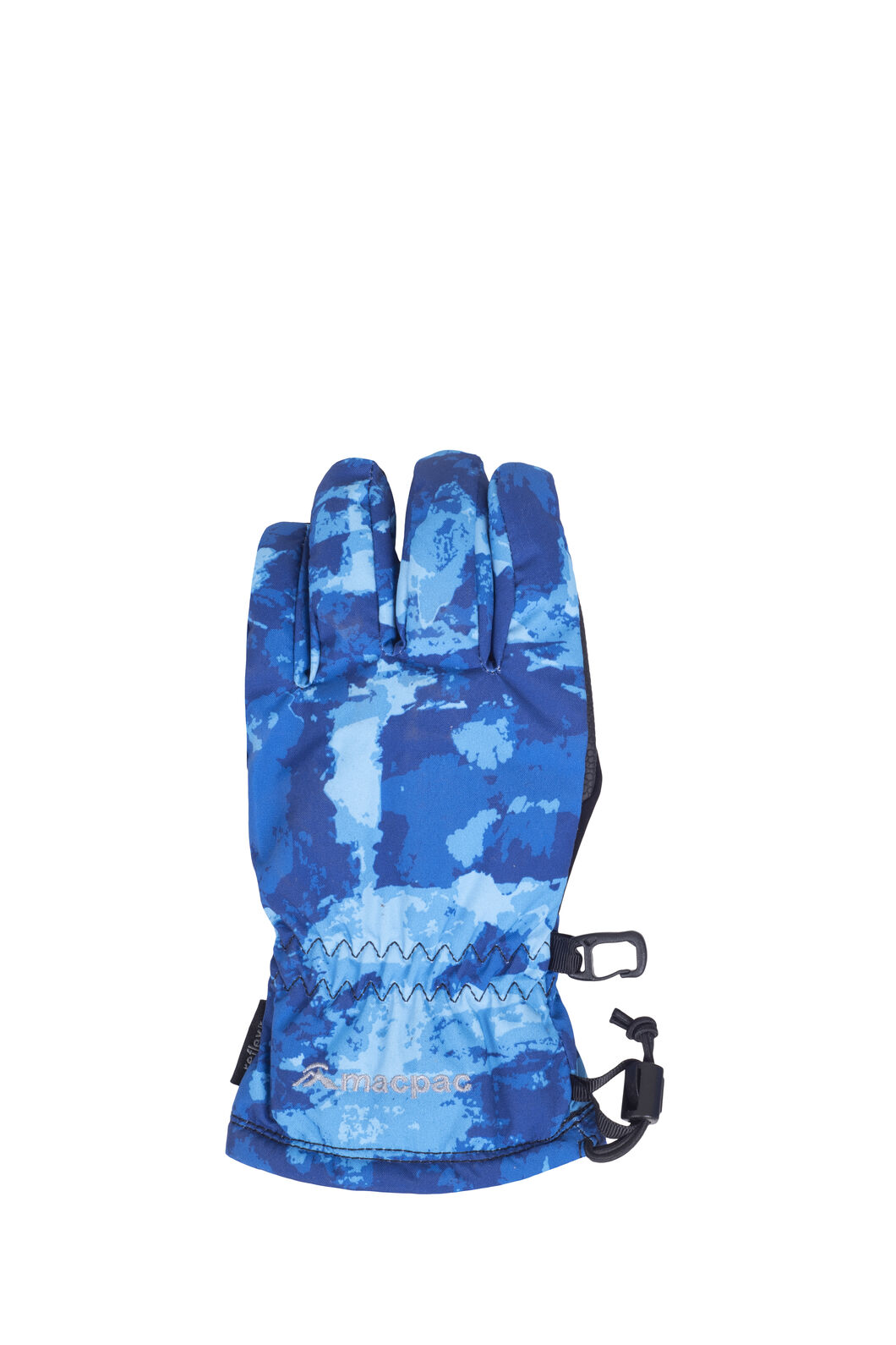 Macpac Spree Ski Gloves, Blue Print, hi-res