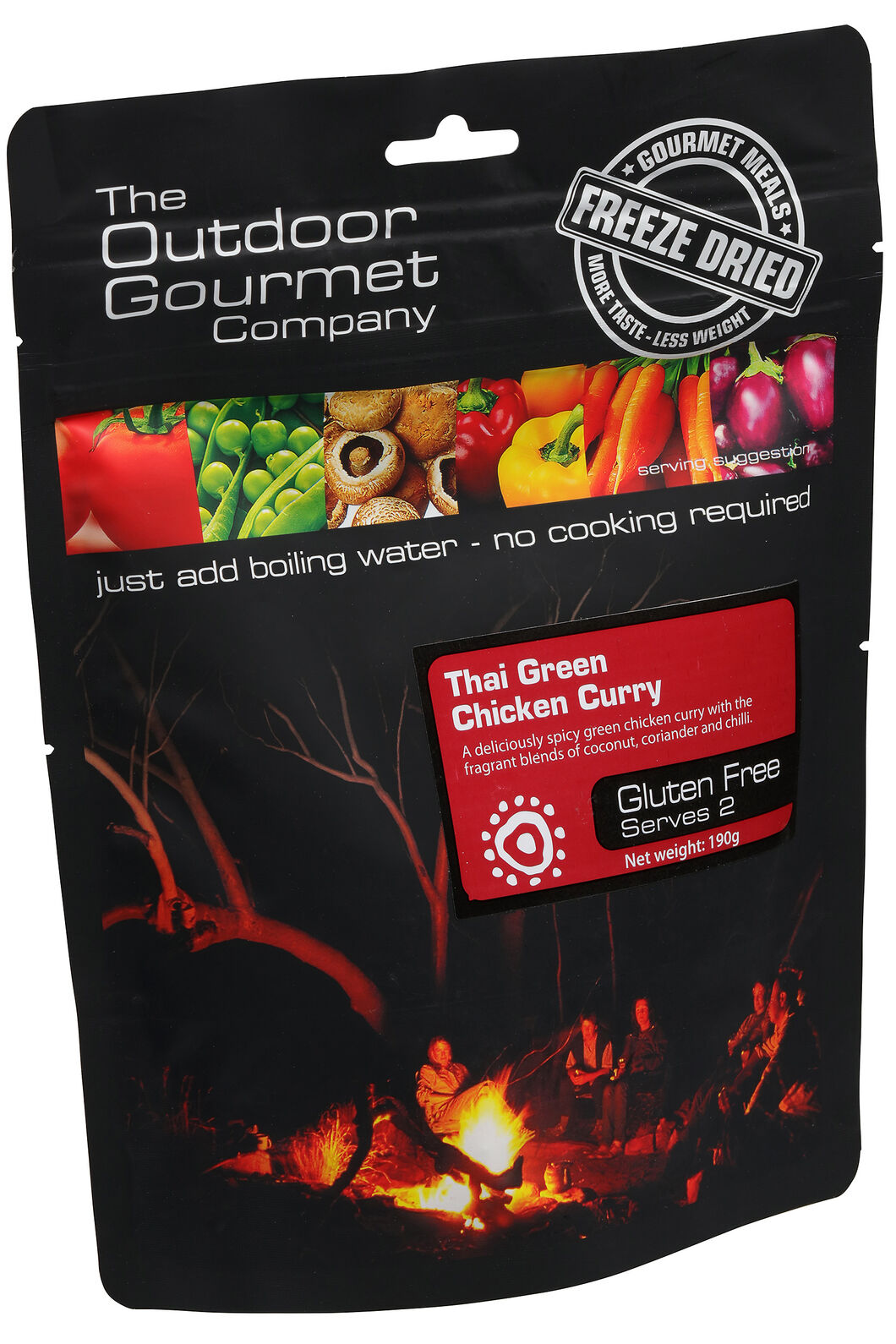 Outdoor Gourmet Company Thai  Curry Chicken Freeze Dried Food (2 Serves), None, hi-res