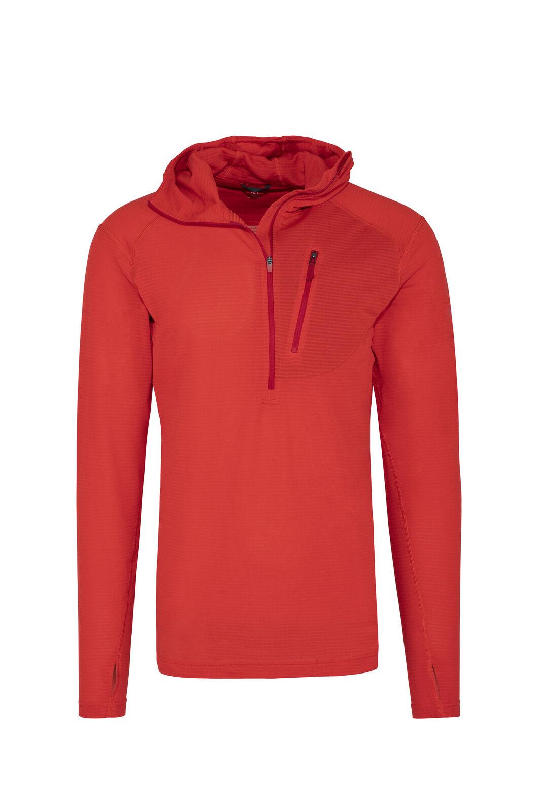 Macpac Men's Prothermal Polartec® Hooded Pullover, Flame Scarlet, hi-res