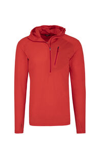 Macpac Prothermal Polartec® Hooded Pullover — Men's, Flame Scarlet, hi-res