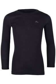 220 Merino Long Sleeve Top - Kids', Black, hi-res