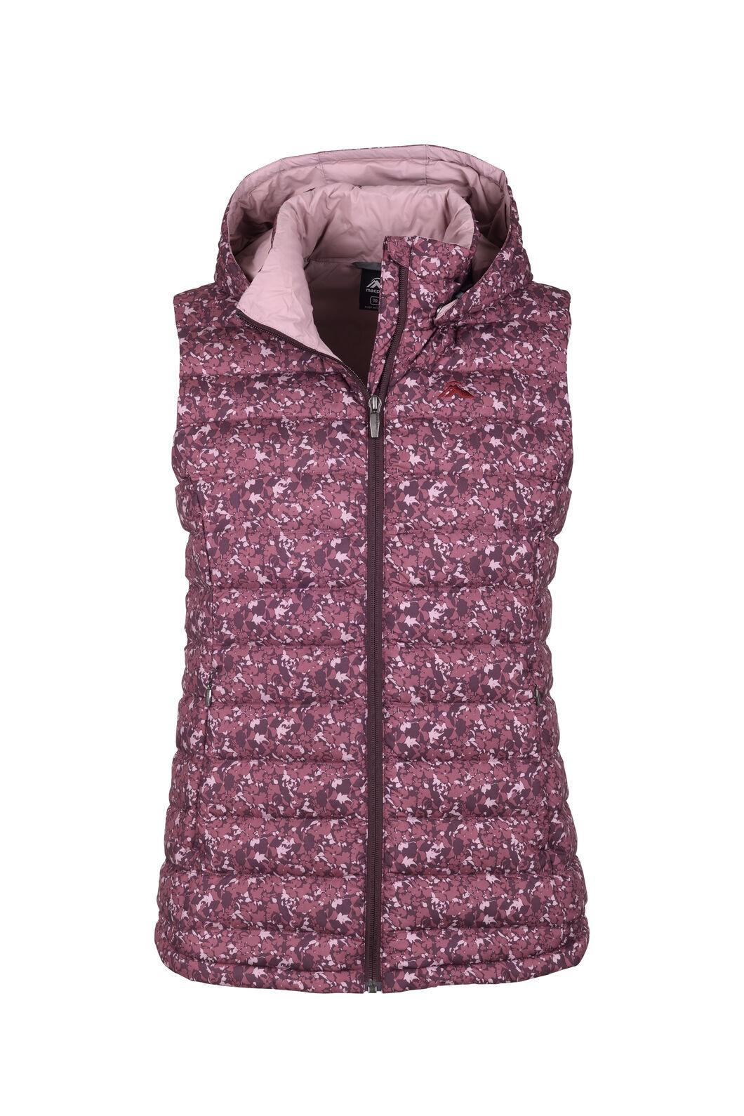 Macpac Women's Zodiac Hooded Down Vest, Fudge/Woodrose, hi-res