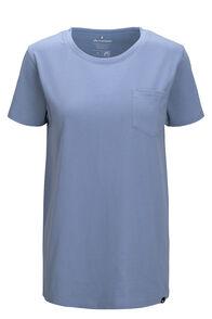 Macpac Women's Basic Pocket Fairtrade Organic Cotton Tee, Dusty Blue, hi-res