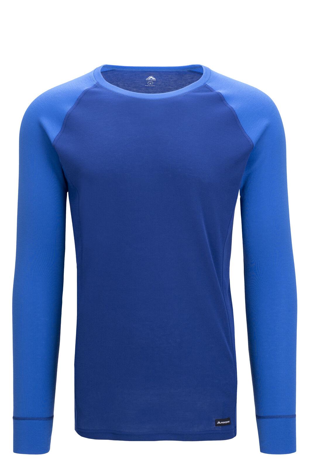 Macpac Geothermal Long Sleeve Top — Men's, Sodalite Blue/Strong Blue, hi-res