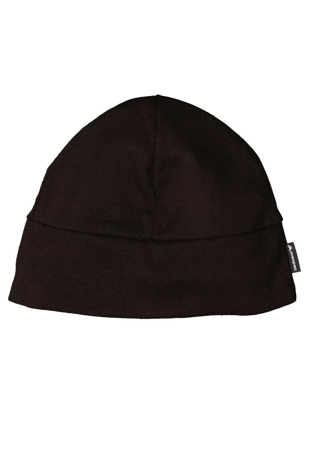 Macpac Polypro Beanie, Black, hi-res