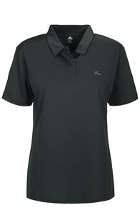 Macpac Eyre Short Sleeve Polo — Women's, True Black, hi-res