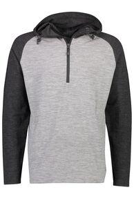 Macpac Merino 230 Long Sleeve Hoody - Men's, Grey Marle/Charcoal Marle, hi-res
