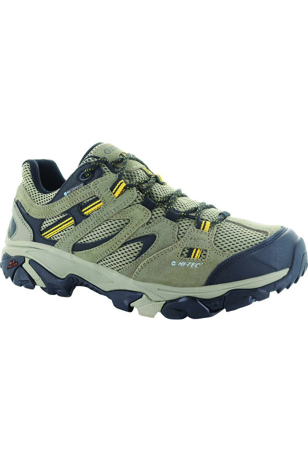 Hi-Tec Men's Ravus Adventure Hiking Shoes, Taupe/Stone/Core Gold, hi-res