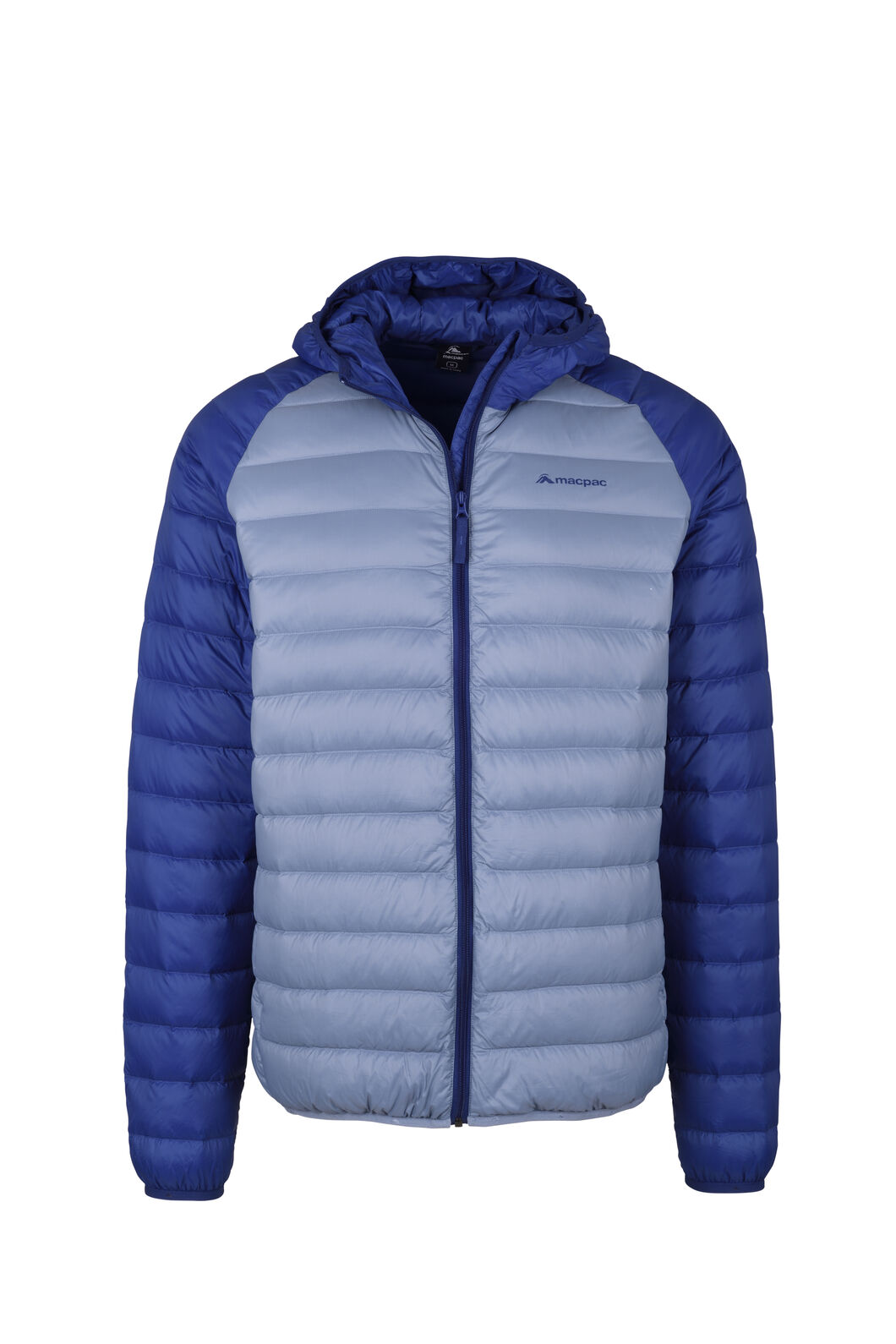 Macpac Uber Hooded Down Jacket - Men's, Flint Stone/Blue Depths, hi-res