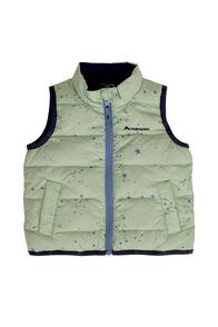 Macpac Atom Down Vest — Baby, Frosty Green Print, hi-res