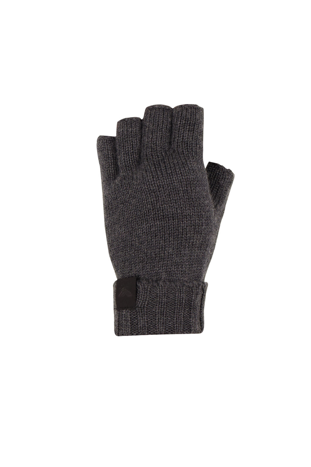 Macpac Merino Fingerless Gloves, Charcoal Melange, hi-res