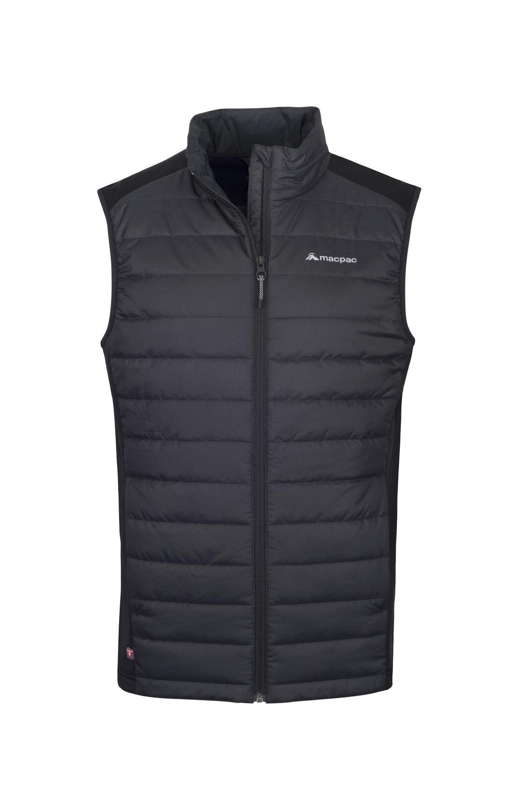 Macpac Strider Hybrid PrimaLoft® Vest — Men's, Black, hi-res