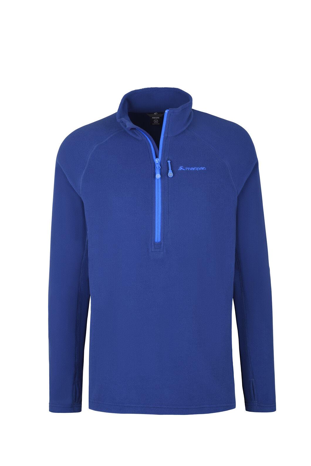 Macpac Tui Polartec® Micro Fleece® Pullover — Men's, Blue Depths, hi-res