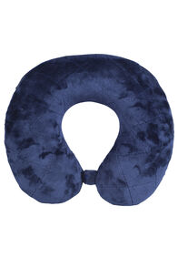 Macpac Travel Pillow Quilted Seams, Navy, hi-res