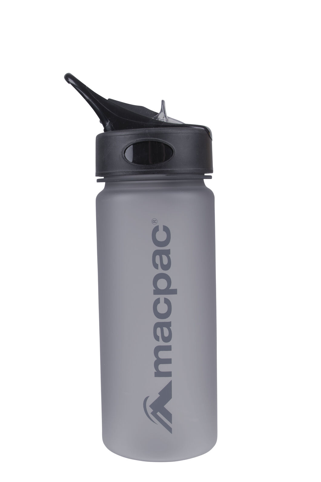 Macpac Flip Top Drink Bottle — 550 mL, Charcoal, hi-res