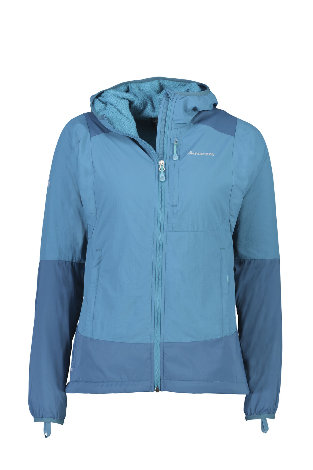 Macpac Pisa Polartec® Hooded Jacket - Women's, Ocean Depths, hi-res