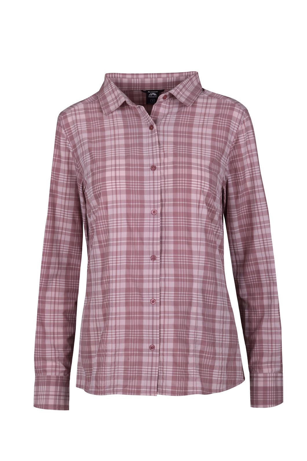 Macpac Eclipse Long Sleeve Shirt - Women's, Nostalgia Rose, hi-res