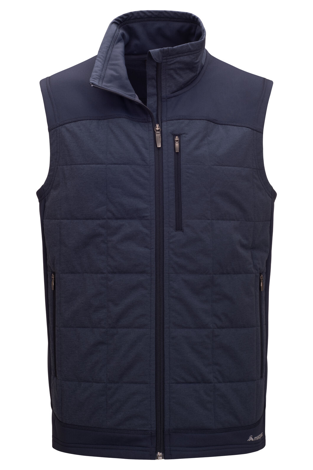 Macpac Men's Accelerate PrimaLoft® Fleece Vest, BLUE NIGHTS, hi-res