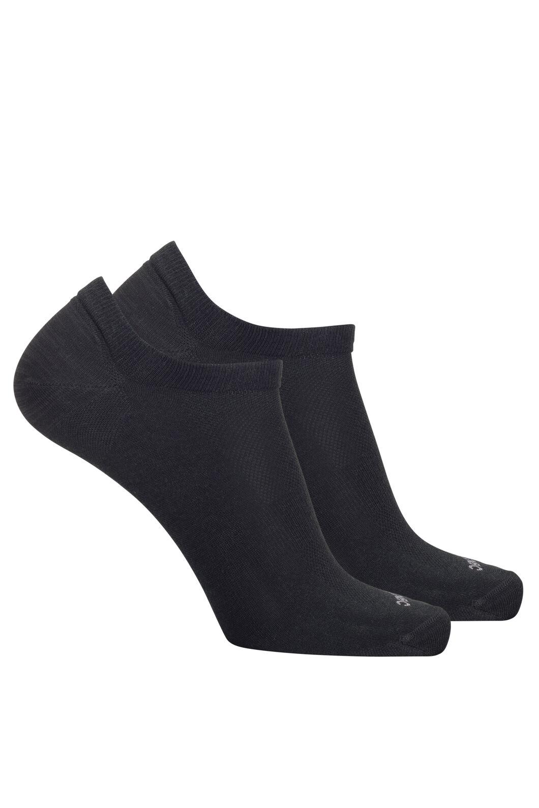 Macpac Merino Blend Anklet Socks — 2 Pack, Black, hi-res
