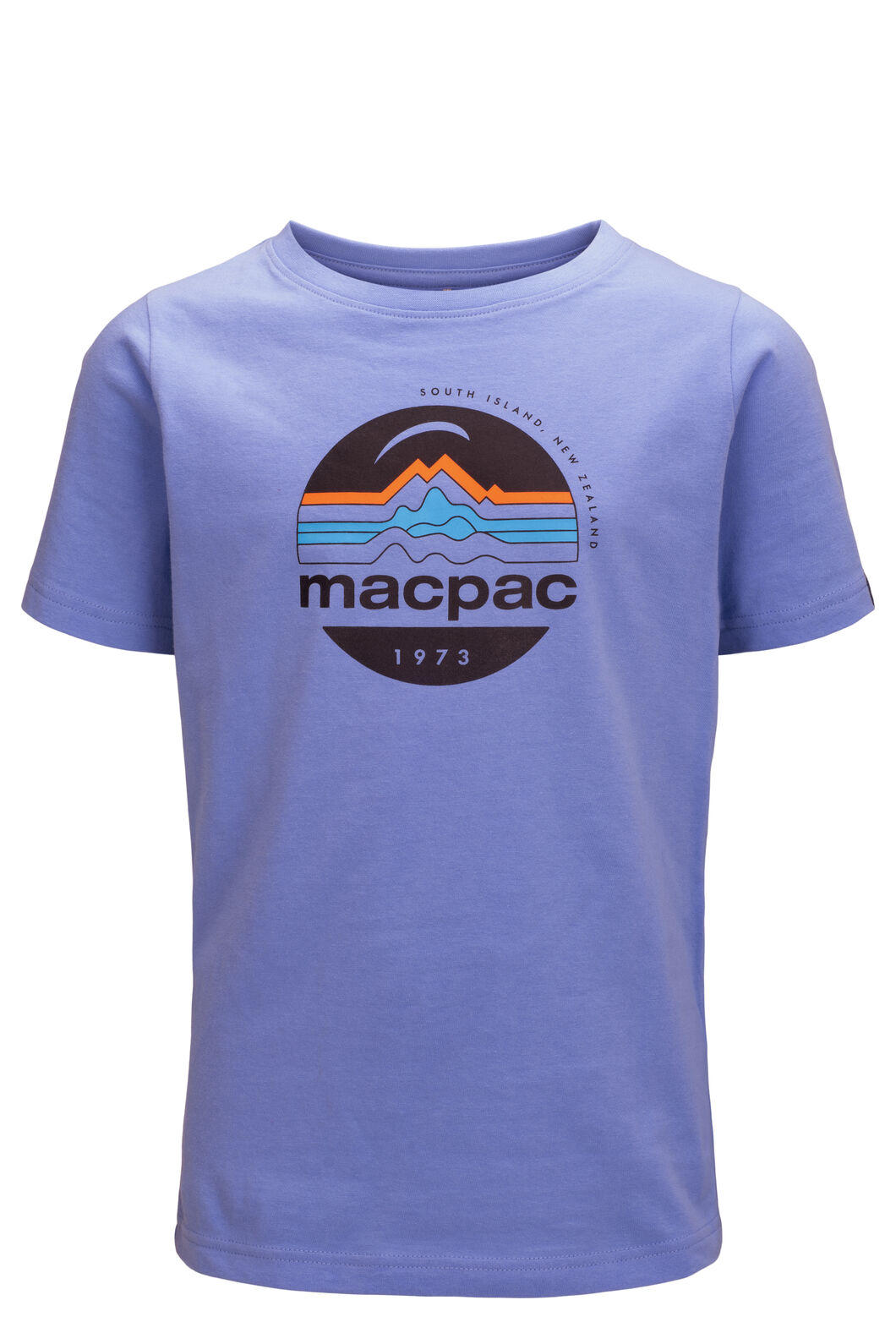 Macpac Kids' Retro Fairtrade Organic Cotton Tee, Cornflower, hi-res