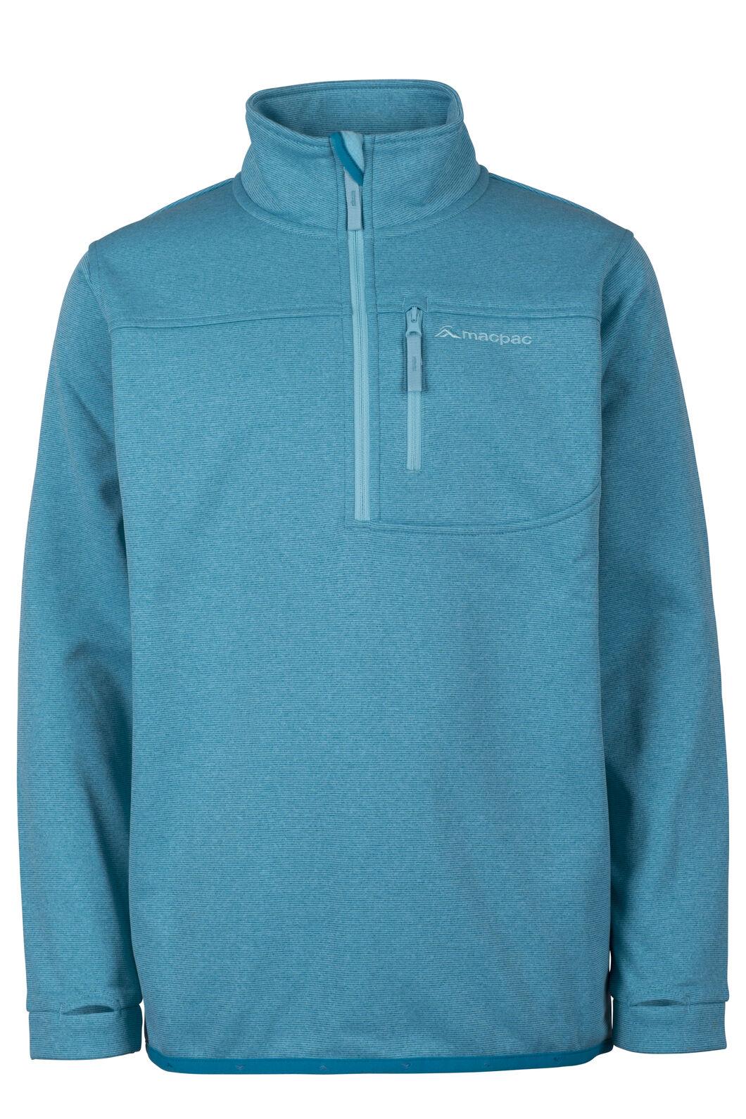 Macpac Kiwi Fleece Pullover - Kids', Enamel Blue, hi-res