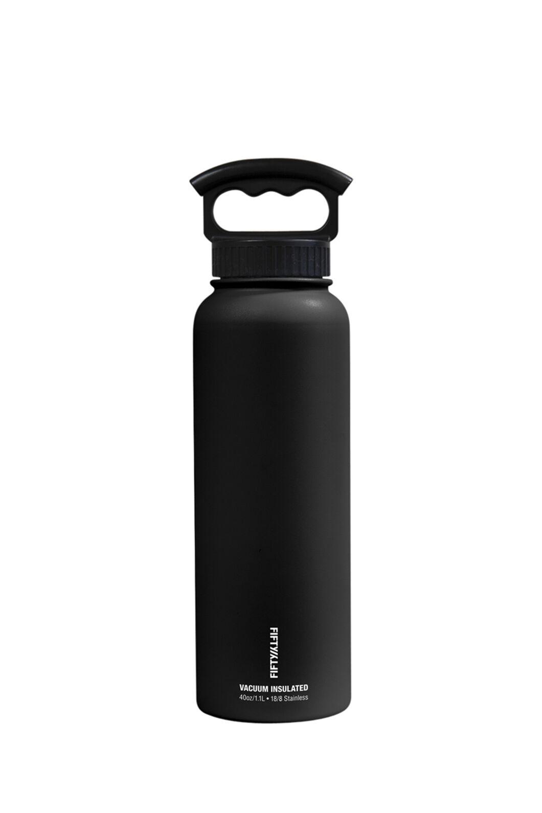 FIFTY/FIFTY® Insulated Bottle — 40 oz./1L, Matt Black, hi-res