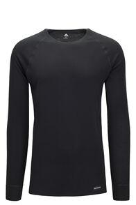 Macpac Men's Geothermal Long Sleeve Top, Black, hi-res