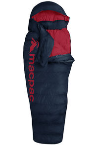 Macpac Overland 400 Extra Large Down Sleeping Bag, Black Iris/Flame Scarlet, hi-res