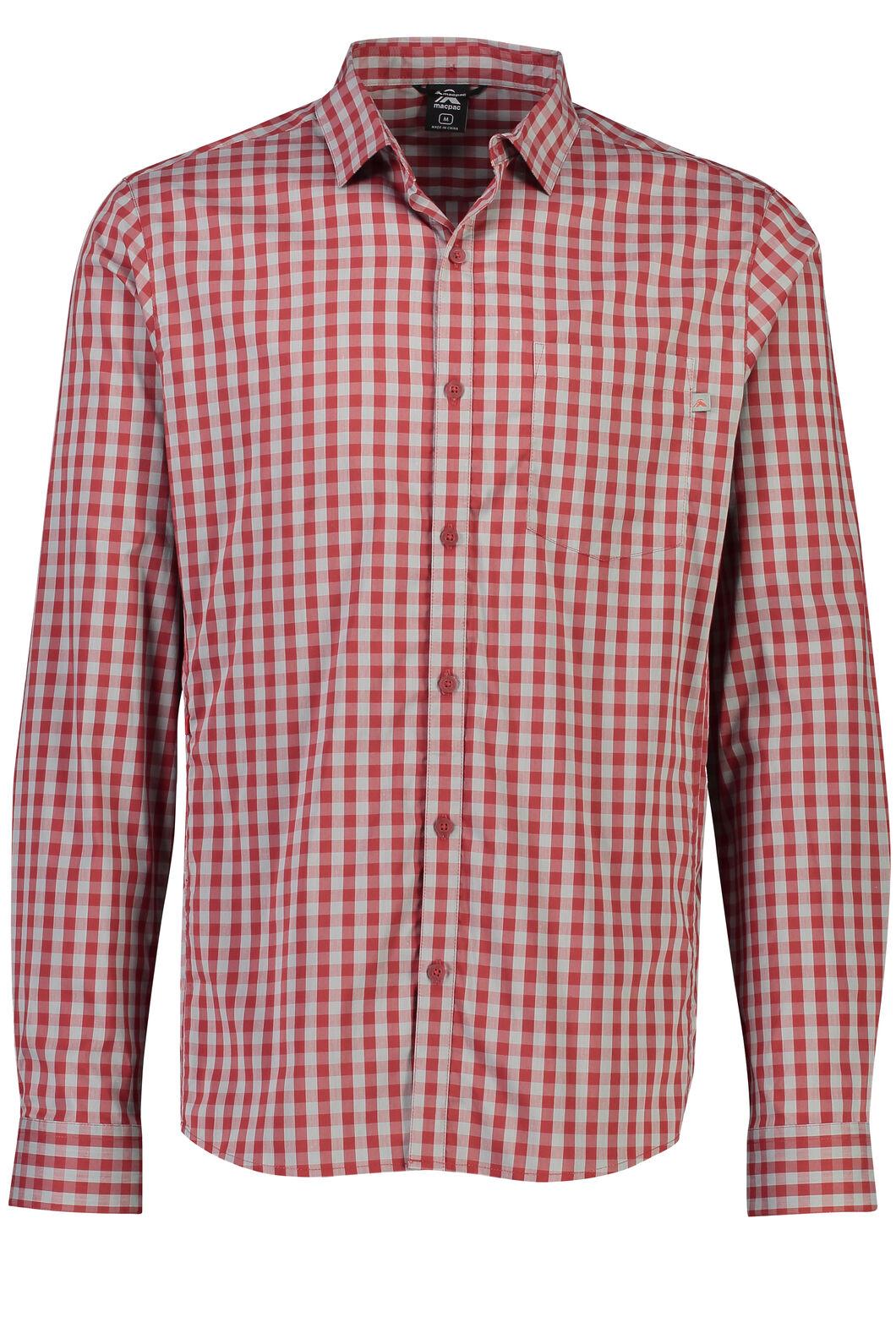 Macpac Crossroad Long Sleeve Shirt - Men's, Sundried Tomato, hi-res