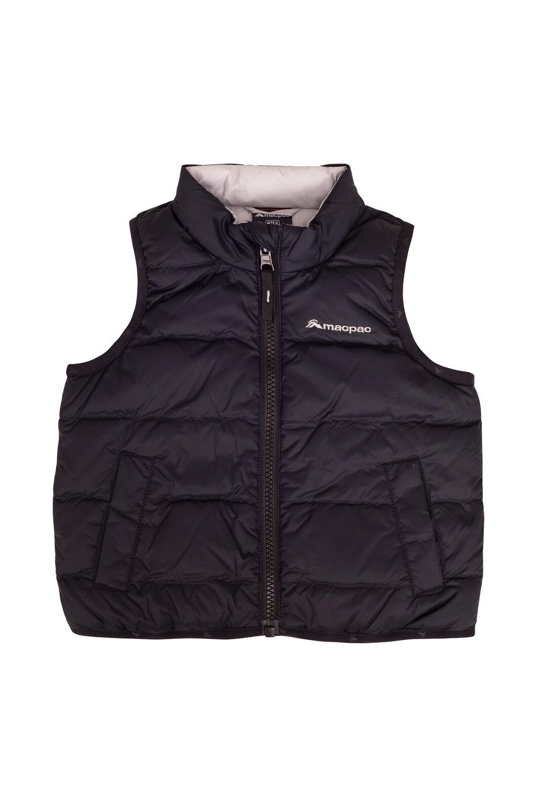 Macpac Atom Down Vest — Baby, Black, hi-res