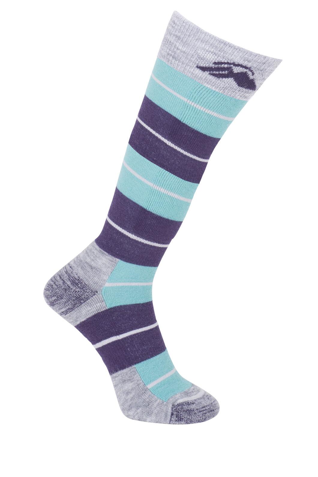 Macpac Merino Ski Socks - Kids', Pearl Blue/Ocean, hi-res