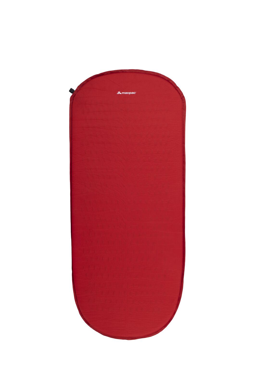 Macpac Self-Inflating Sleeping Mat — 2.5 cm (3/4 Length), Crimson, hi-res