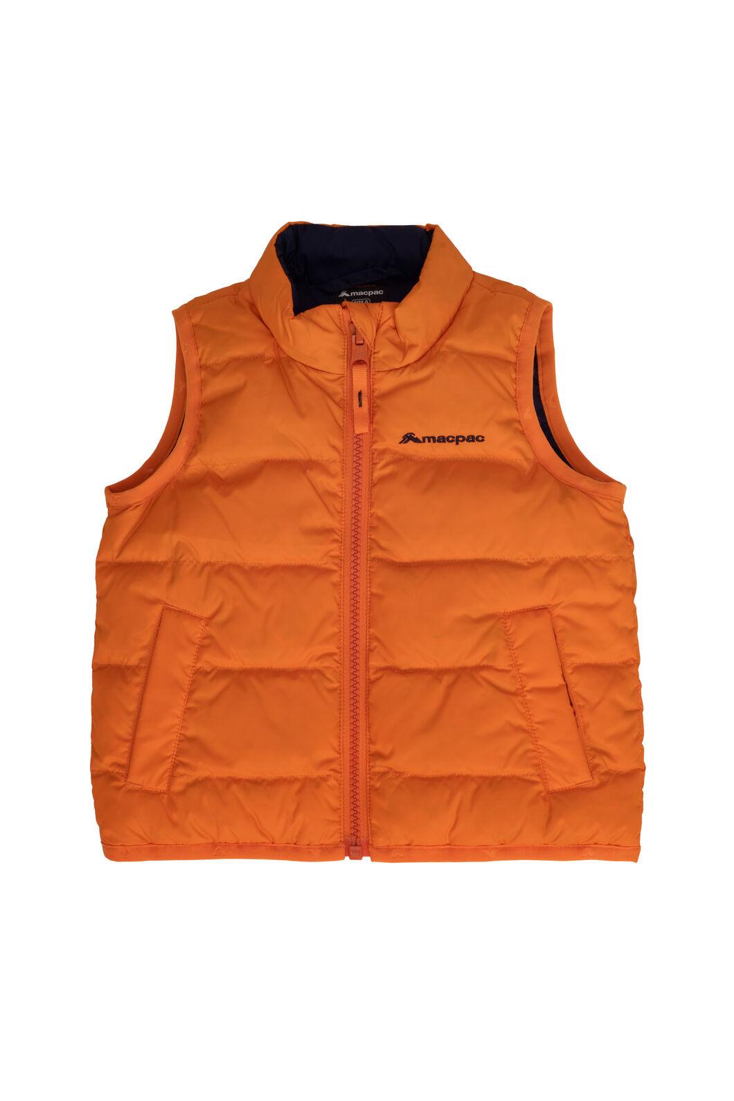 Macpac Atom Down Vest — Baby, Russet Orange, hi-res