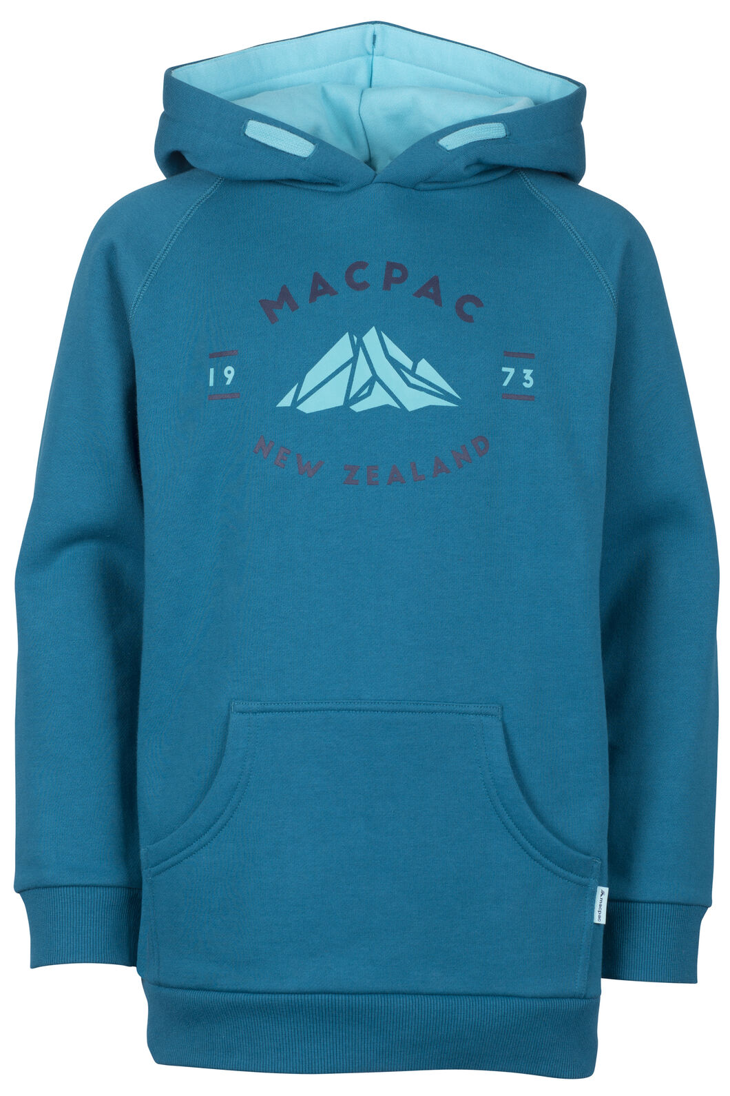 Macpac Organic Mountain Hoody - Kids', Ocean Depths, hi-res