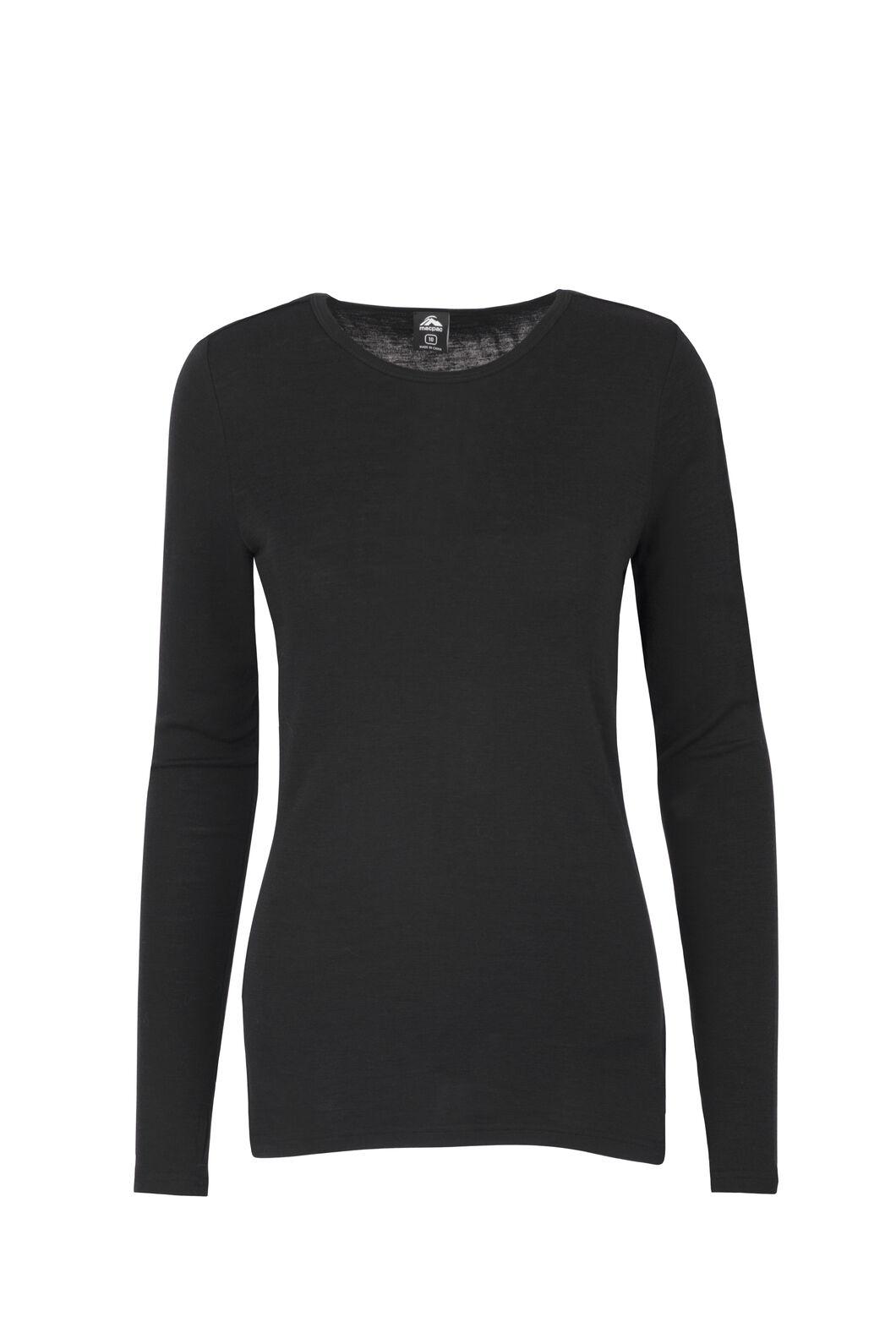 Macpac 220 Merino Top — Women's, Black, hi-res