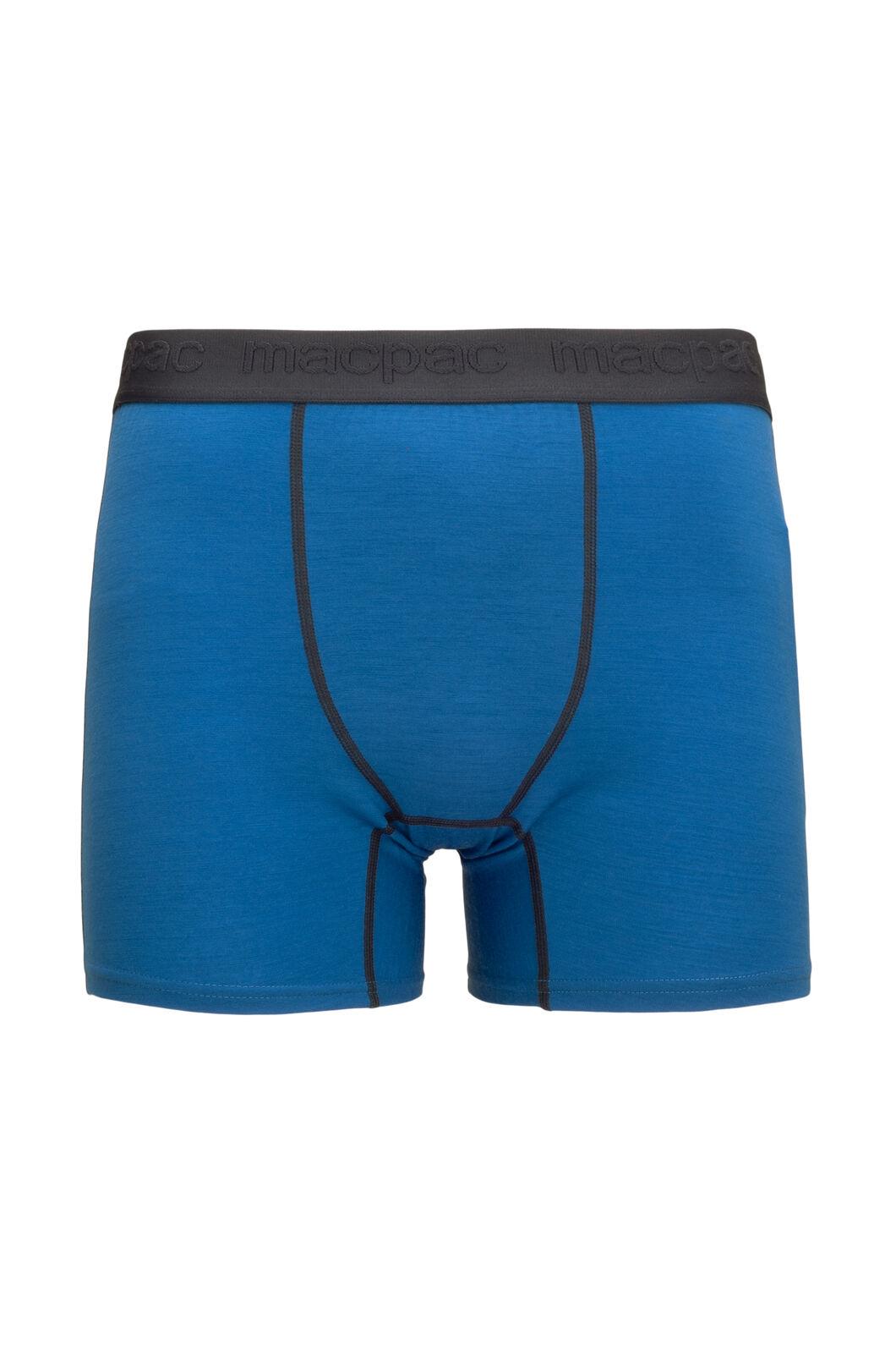 Macpac Men's 180 Merino Boxers, Classic Blue, hi-res