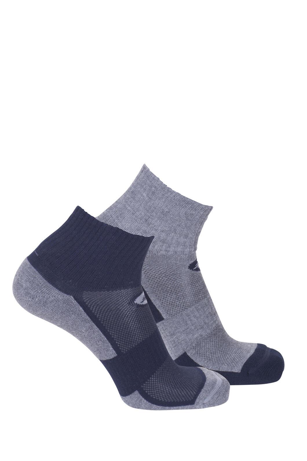 Macpac Cross Trainer Sock (2 Pack), Salute/Light Grey Marle, hi-res