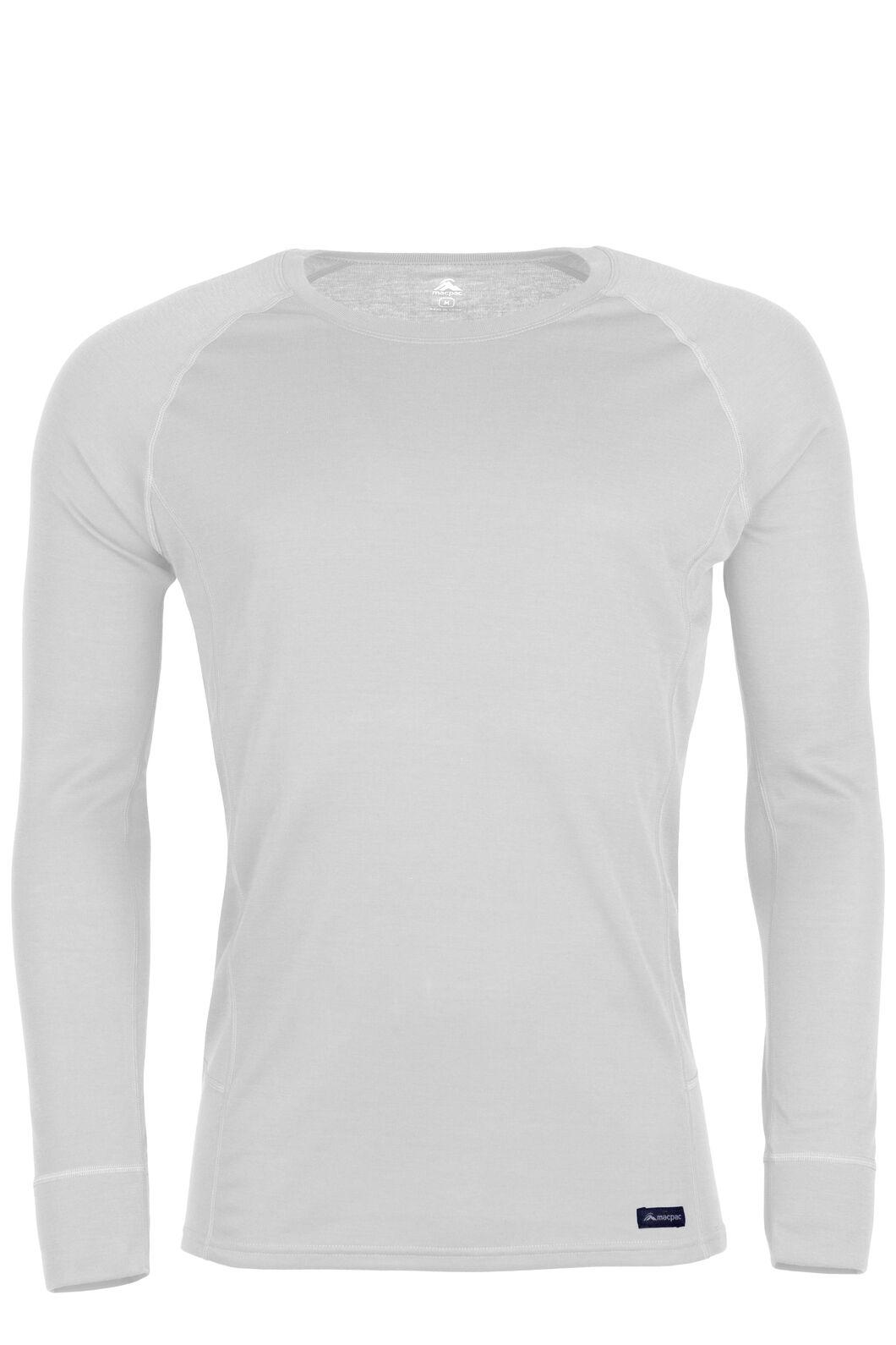 Men's Geothermal Long Sleeve Top, White, hi-res