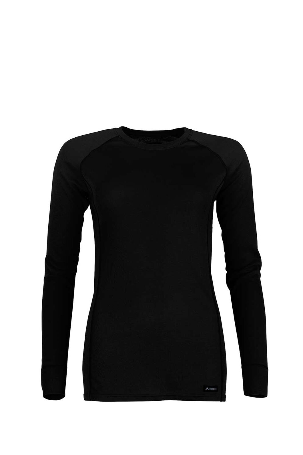 Macpac Geothermal Long Sleeve Top - Women's, Black, hi-res