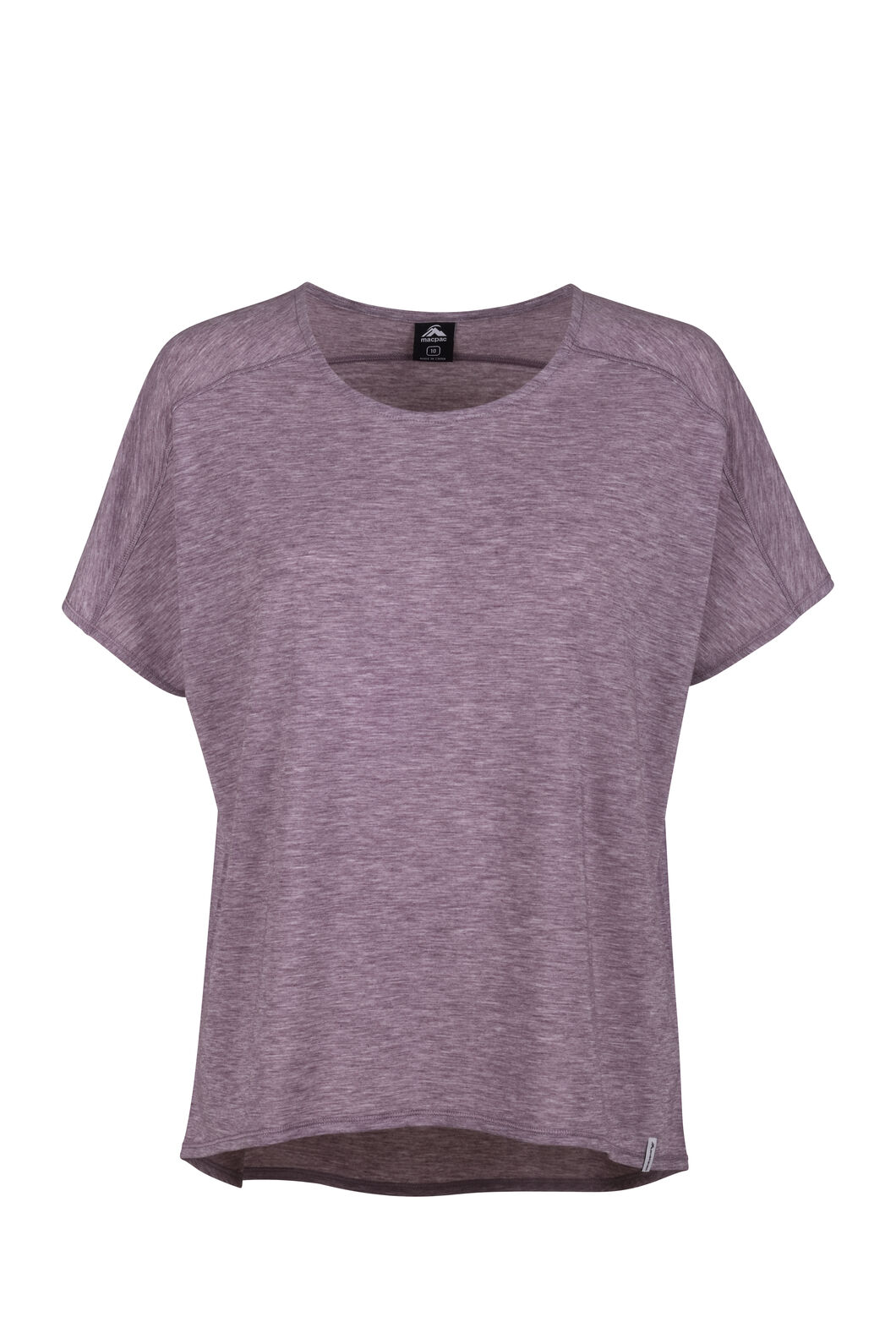 Macpac Eva Short Sleeve Tee — Women's, Fudge, hi-res