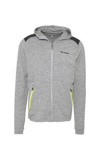 Macpac Strata 280 Merino Hooded Jacket — Men's, Grey Marle, hi-res