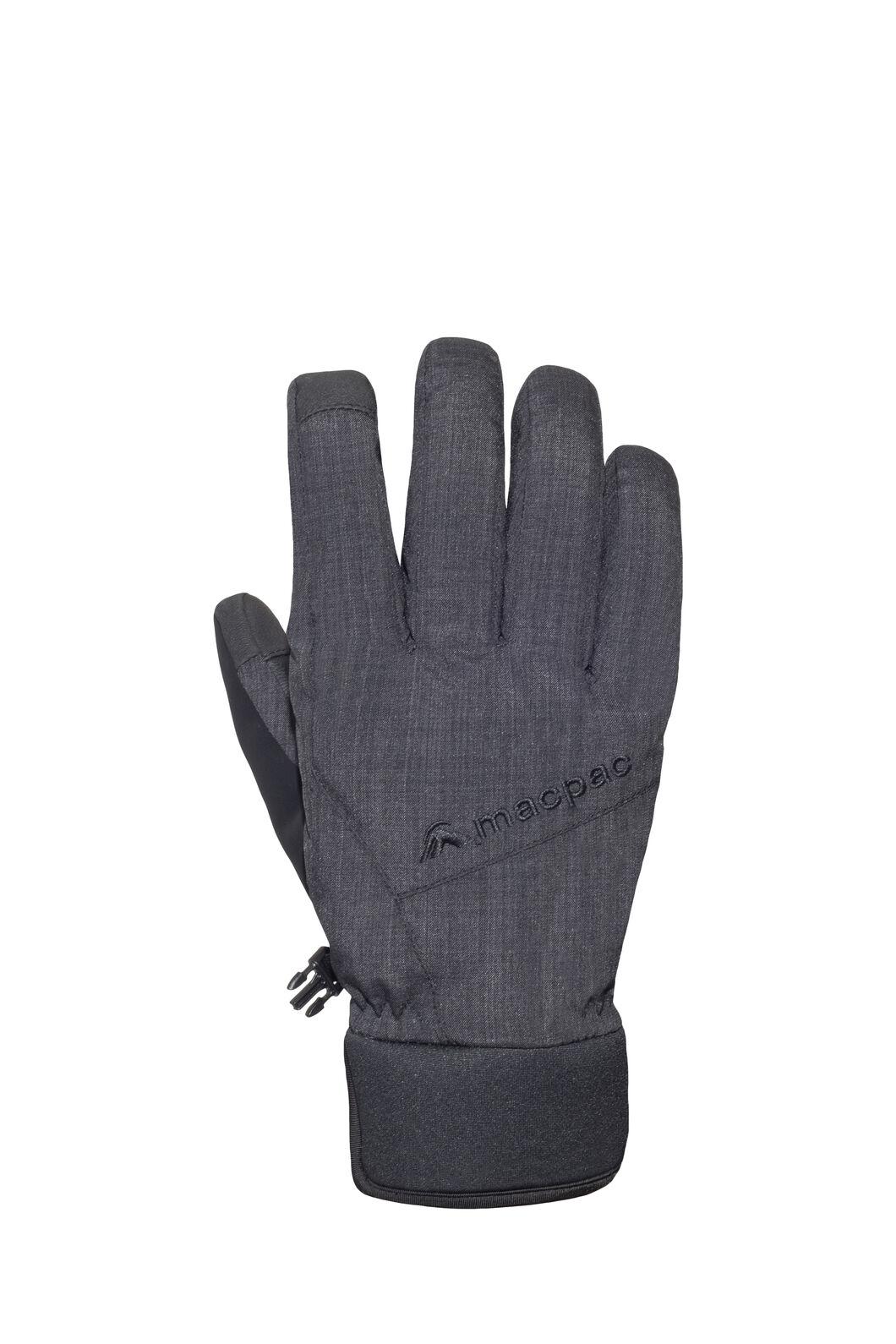 Macpac Piste Gloves, Black, hi-res
