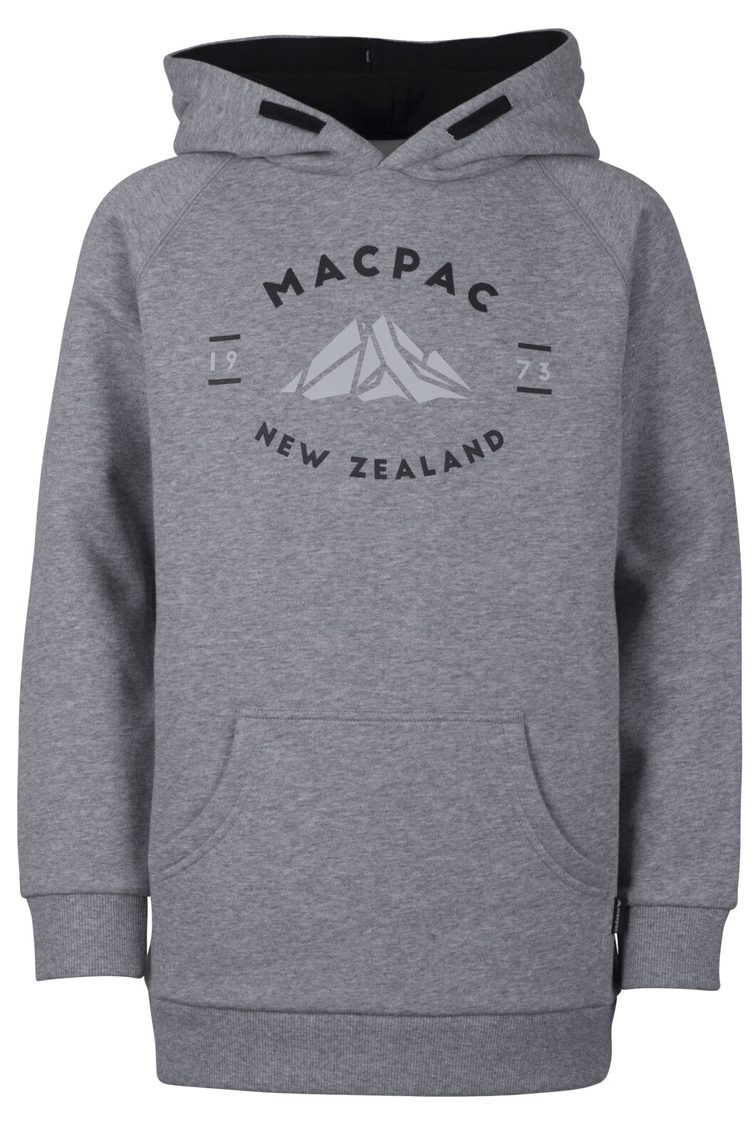 Organic Mountain Hoody - Kids', Grey Marle, hi-res