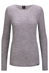 Macpac 220 Merino Long Sleeve Top — Women's, Light Grey Marle, hi-res