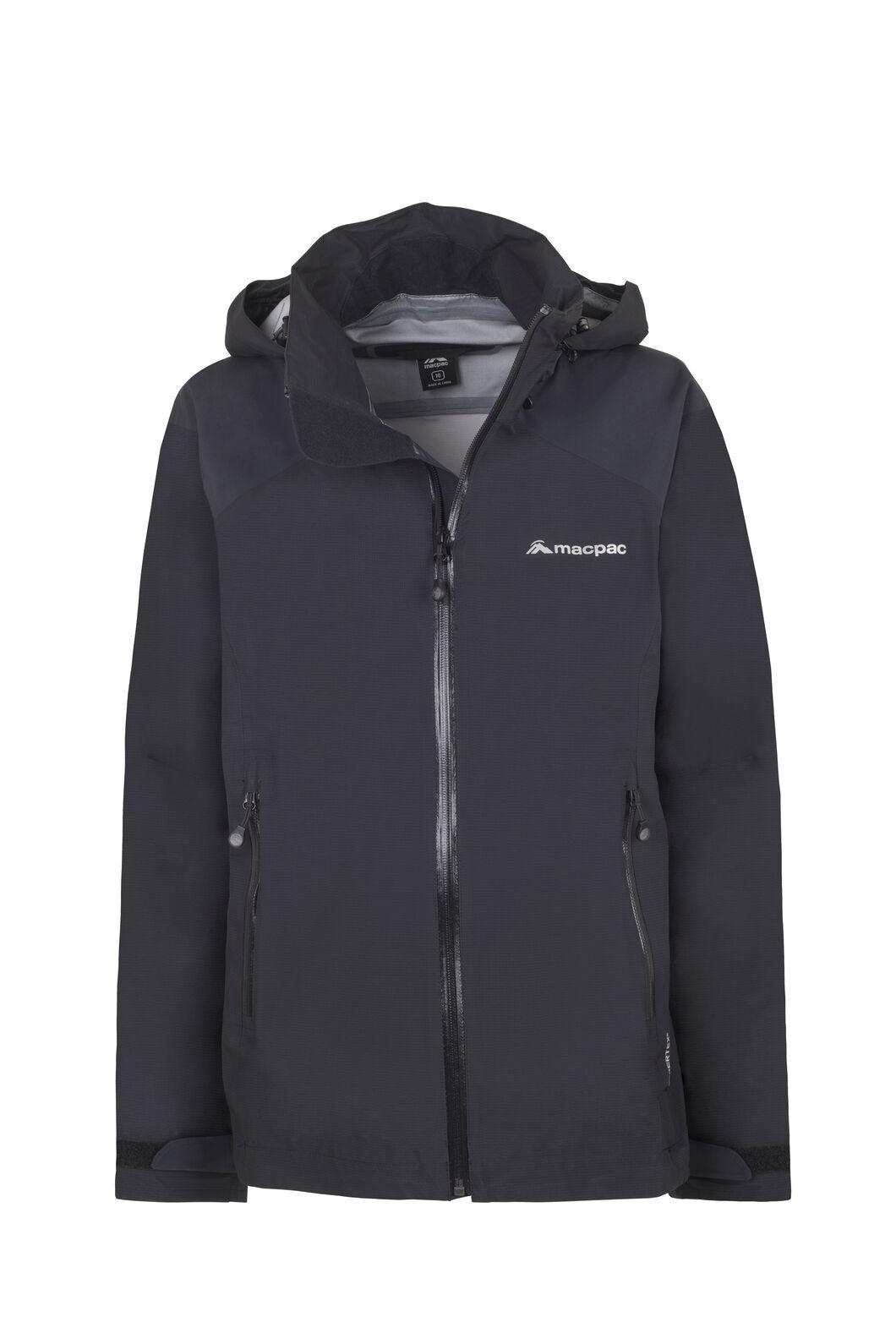 Macpac Traverse Pertex® Rain Jacket - Women's, Black, hi-res
