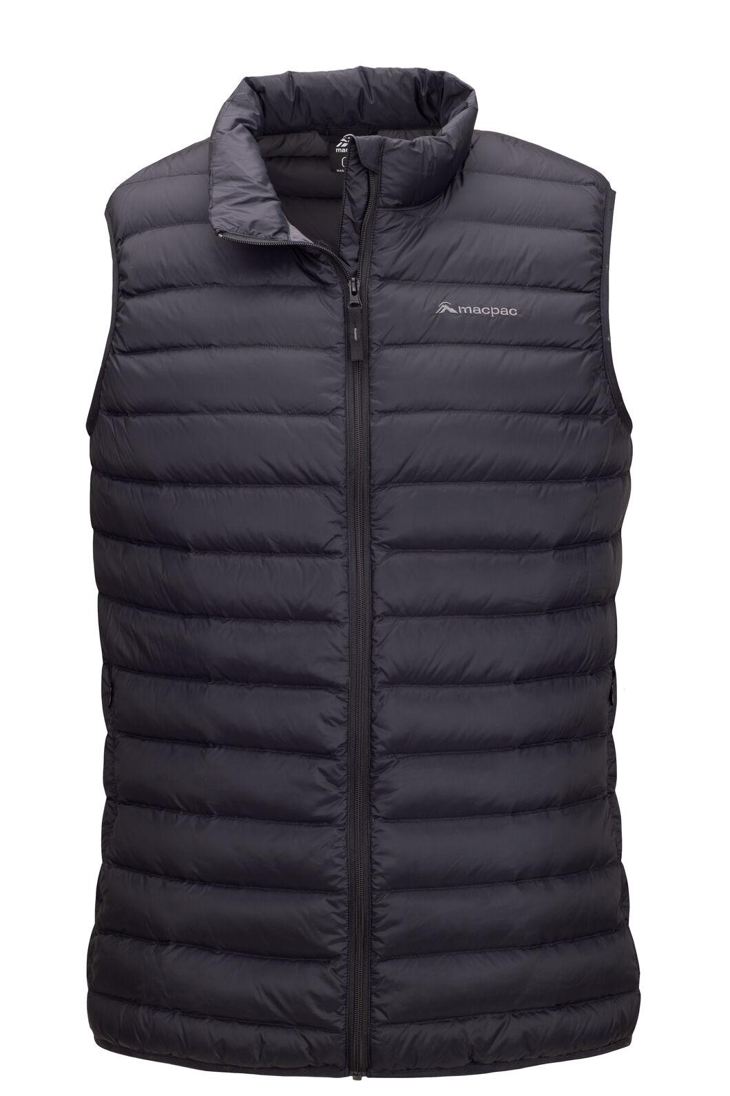 Macpac Uber Light Down Vest — Men's, Black, hi-res
