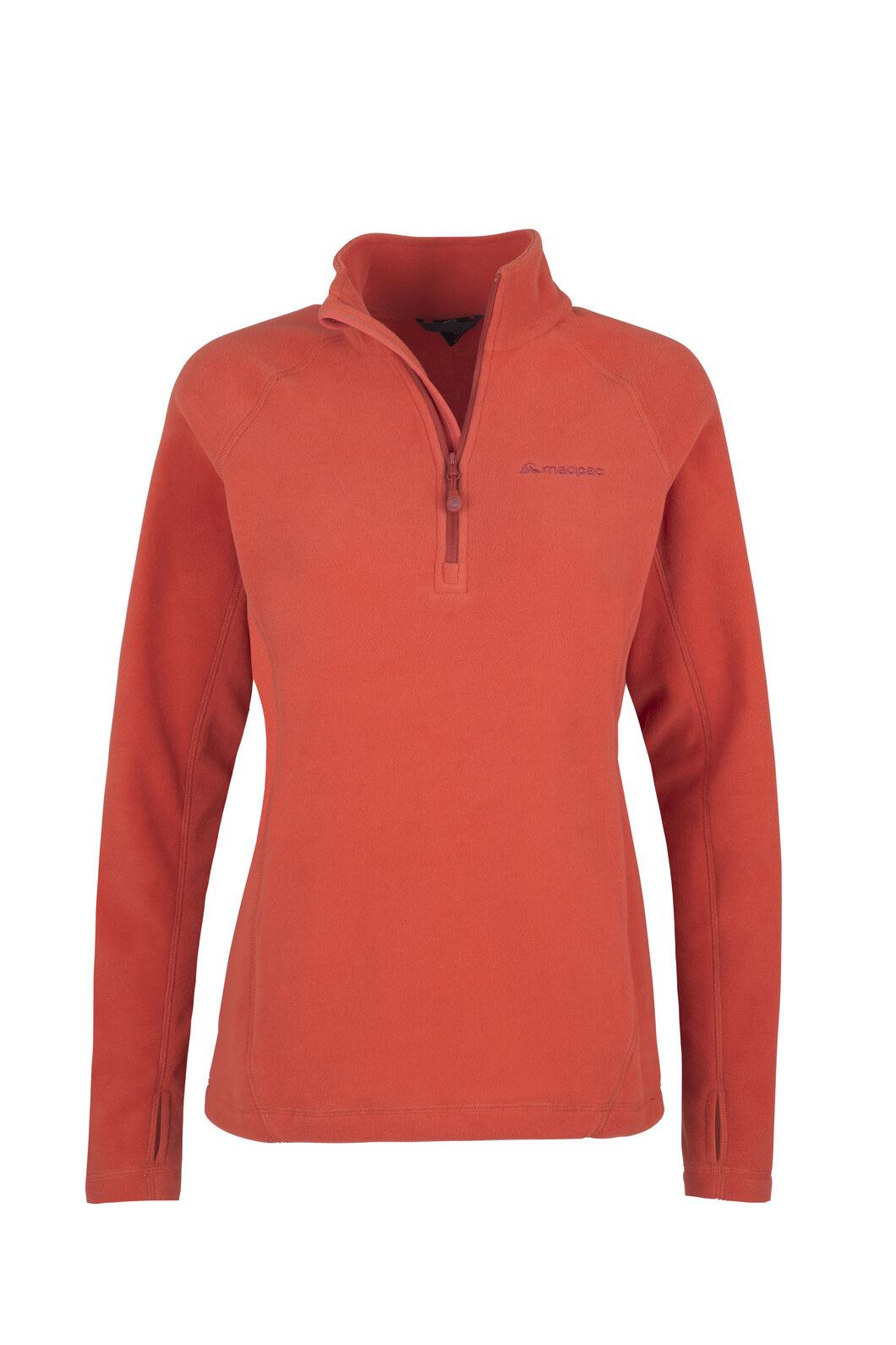 Macpac Tui Polartec® Micro Fleece® Pullover — Women's, Chilli, hi-res